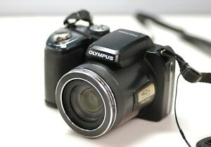 OLYMPUS STYLUS SP-820UZ DIGITAL CAMERA • 40x wide zoom,full HD,strap,lens cap,SD