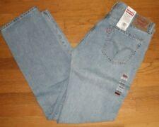 Levi's 505 Jeans Straight Fit Leg Classic Sits at Waist Light Blue New 34 x 36