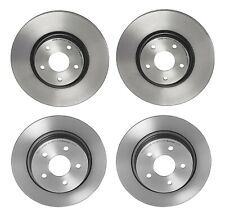 Front & Rear UV Coated Brake Disc Rotors Set Brembo Kit For Ford C-Max Escape