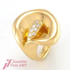 Lüth Bijoux Ring - 18K GG - 10 Diamanten ca. 0,30 ct TW-VVS  - Gr. 52 - 9,5 g