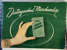 S&H Green Stamps 1956 Distinguished Merchandise Catalog - Green with Hand Large