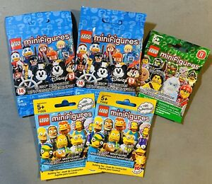 LEGO Disney Simpsons Minifigure SEALED LOT 5x Series 2 11 NEW #71009 71002 71024