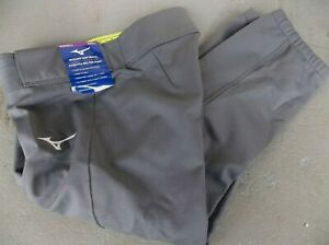 NWT MIZUNO WOMEN'S STRETCH BELTED SOFTBALL PANTS.LARGE.GRAY.BRAND NEW FOR 2021.