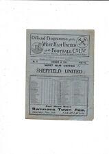More details for 1930/31 west ham united v sheffield united football programme