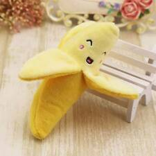 New listing Dog Chew Toys Banana Designs Pet Puppy Squeak Plush Sound Toy Dogs Pet Cute