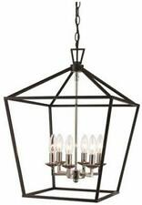 Trans Globe Imports 10266 PC/BK Six Light Pendant from Lacey Collection 16.00 in