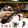 Outdoor Camping Hiking Stainless Steel Spoon Fork-Knife Multi-function Cutlery