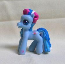MY LITTLE PONY MON PETIT PONEY - PETIT PONEY BLEU BLANC ROSE YEUX BLEU 2006 PVC
