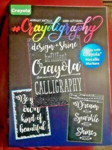 Crayola Crayoligraphy Midnight Metallic Hand Lettering Activity Book NEW