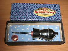 Vintage Mr. Bartender Mcm Bottle Topper & Shot Liquor Pourer Retro Bar Orig Box