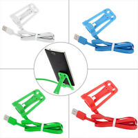 Chic Stand Holder Micro USB Charger Charging Sync Data Cable For Samsung Galaxy