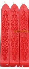 Lot de 3 Batons cire rouge pour Sceau Sceller CACHET CIRE Wax Seal Sealing Stick