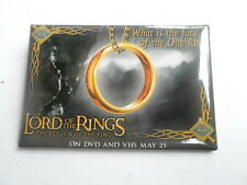 VINTAGE PINBACK BUTTON #63- 046 - LORD OF THE RINGS ROTK- FATE OF THE ONE RING