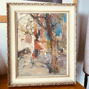 Allan Hansen 1911 - 2000 Original Signed Oil Painting Kings Cross Autumn
