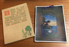 Beautiful 1926 Maxfield Parrish Calendar in Original Box Antique Mint