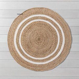 Rug Round Natural Braided jute rug Reversible Modern look Rug Living Carpet Rug