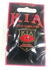 Red 1in Collectible Lapel Pin Kia America Remembers Shield Black