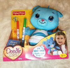 Fisher Price Doodle Bear Sky Rare Hard To Find