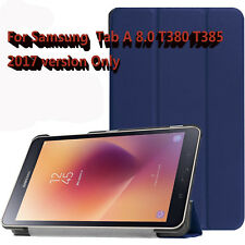 "Slim Smart Magnetic Cover Case For Samsung Galaxy Tab A ( 8.0"" 4G) SM-T385 T380"