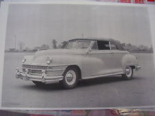 1946 1947 1948  CHRYSLER CONVERTIBLE   11 X 17  PHOTO /  PICTURE