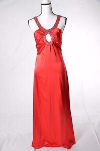 De Laru  Womens Red Satin Formal Valentines Dress Gown Size 11-12   (P) NWT