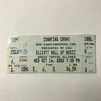 Counting Crows Elliott Hall of Music Concert Ticket Stub October 2002