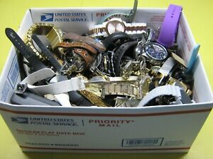 Nice 12 Pound Lot of Untested Watches for Parts, Repair, Resale or Wear - TK