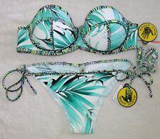 NWT Body Glove Swimsuit Bikini Sz S Small Brasilia Fame Demi-Bust Lagoon