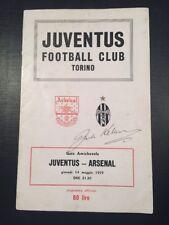 Juventus V Arsenal- Front Cover Signed By Jack Kelsey