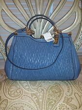 GORGEOUS COACH CARRIE GATHERED TWISTED LEATHER SATCHEL F27681 NWT