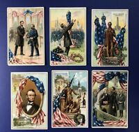 Set 6 LINCOLN BD Tuck Publ Series #155 Antique Postcards. For Collectors Value