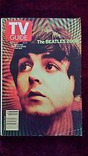 """November 11-17 2000 TV Guide """"Paul"""" w/Paul McCartney on Front Cover"""