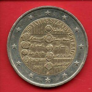 AUTRICHE 2 EURO 2005  commémorative 50e anniversaire du Traité d'Etat