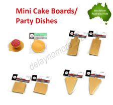 10 x Mini Cake Boards Wedding Party Cupcake Board Dishes Shaped Baking Gold NEW