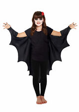 Halloween GIRLS VAMPIRE BAT WINGS CAPE GOTHIC FANCY DRESS COSTUME Outfit