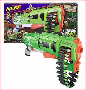 Nerf ZOMBIE Strike RIPCHAIN Combat Blaster w/ 25 Darts & - SLAM 25 Darts at Once