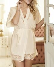 NEW Next Wrap Robe Dressing Gown Ivory Lace Bridal Womens Size M RRP £40