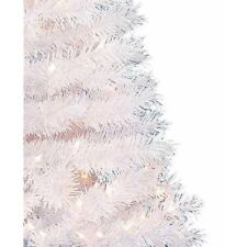 Pre-Lit 6.5' Madison Pine White Christmas Tree, Clear Lights, 1-Day Ship