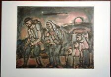 Stampa GEORGES ROUAULT Esodo La via è lunga Grafica Arte Edizioni Seat 1988