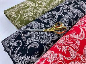 *NEW*Paisley Print Poly Scuba Stretch Jersey Dress/Mask/Cushion Fabric*FREE P&P
