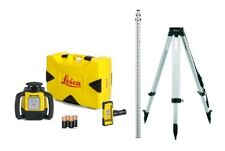 Rotating Laser Leica Rugby 610 w/ Rod Eye 120, Tripod & Rod Contractor Kit