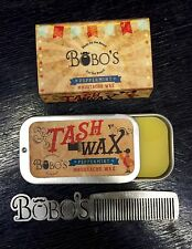 BOBOS BEARD COMPANY PEPPERMINT MOUSTACHE TASH WAX WITH A FREE COMB WORTH £12