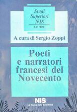 SERGIO ZOPPI POETI E NARRATORI FRANCESI DEL NOVECENTO LA NUOVA ITALIA SCIENITICA
