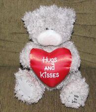 ME TO YOU TATTY TEDDY STUFFED PLUSH HUGS AND KISSES GRAY BEAR BLUE NOSE FRIEND