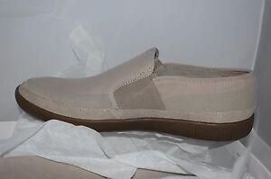 NEW! CALVIN KLEIN Elvin Men's Sneaker Canvas Shoes Stone/Khaki Reg $130 Size 9