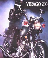 Yamaha Virago 750cc Motorcycle Brochure, Original