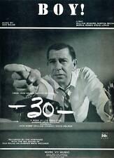 FILM MOVIE Sheet Music BOY! The NORTONES '30' Jack WEBB 1959 #302