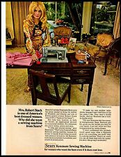 1969 Sears Sewing machine Rosemarie Bowe Robert Stack Vintage Print Ad