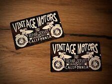 2x Vintage Motor Aufkleber Motorrad Oldtimer V2 USA Nostalgie Scheunenfund #170