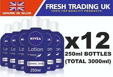 Nivea Lotion For Normal Skin Face & Body Moisturiser - 12 x 250ml Bottles Pack